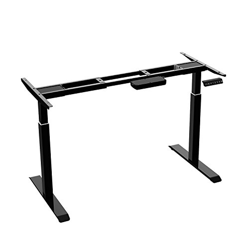 AIMEZO Heavy Duty Dual Motor Height Adjustable Desk Frame Electric Sit Stand Desk Base Home Office Stand Up Desk with 4 Programmable Memory