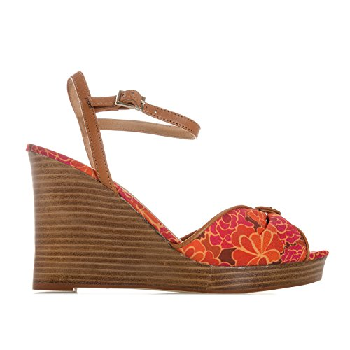 Ravel Womens Beatrice Wedge Sandals in Red Lp4oIWVSPc