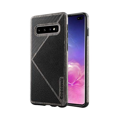 (Cocomii Luxe Armor Galaxy S10 Case NEW [4 Materials In 1 Case] Premium Real Wood Carbon Fiber Alcantara Leather Shockproof Bumper [Slim Fit] Full Body Heavy Duty Cover for Samsung)