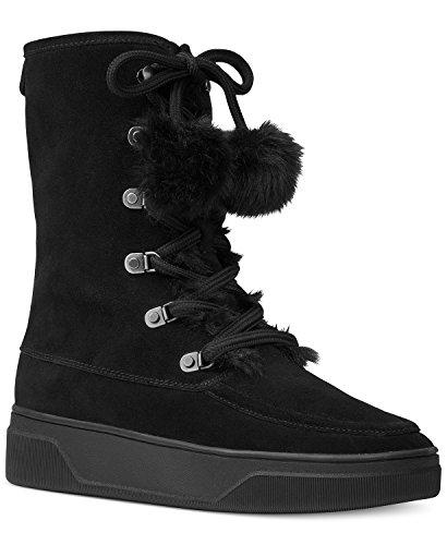 MICHAEL Michael Kors Women's Juno Faux Fur Lace up Boots, Black, 7 B(M) ()