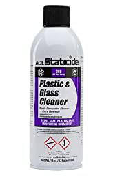 ACL Staticide 8670 Plastic and Glass Cleaner, Aerosol, 15 oz.