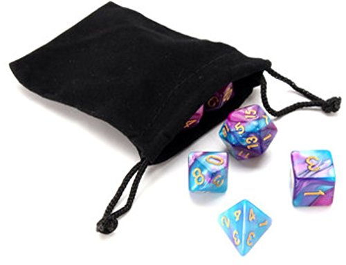 35Pcs Polyhedral Dice Double-Color Acrylic For Game Party Decor 4/6/8/10/12/20D With Bag by ShopIdea (Roofing Dragon Red)