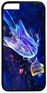 Animals-Butterflyfish-And-Jellyfish Case for iPhone 6 Plus 5.5 inch PC Material Black(Compatible with Verizon,AT&T,Sprint,T-mobile,Unlocked,Internatinal) in GUO Shop