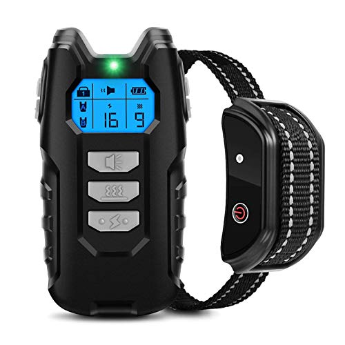 Flittor Dog Training Collar, Shock Collar for Dogs with Remote, Rechargeable Dog Shock Collar, 3 Modes Beep Vibration…