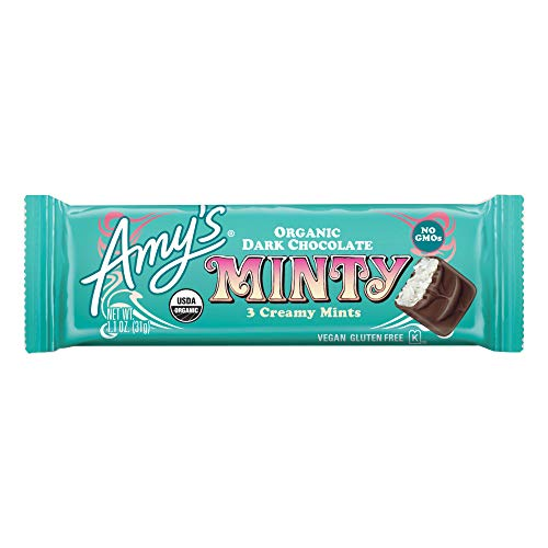 Amy's 3 Piece Organic Minty Candy Bar, 12 Count