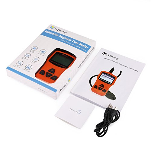 isYoung Vehicle Scan Tool OBD/EOBD CAN Diagnostic Tool 10 Modes OBDII Test + Quick Battery Health Check Engine Scanner for AUDI/VW/SKODA/BENZ/BMW/PORSCHE/GM & Other Car/SUV/Light Duty Vehicle(Orange) by isYoung (Image #7)