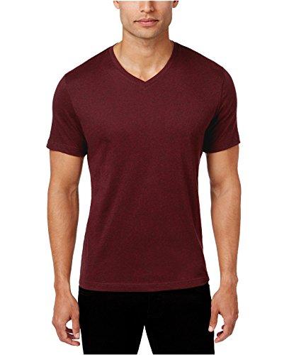 Alfani Men's Slim-Fit Fitted V-Neck T-Shirt (Large, Port Heather) from Alfani