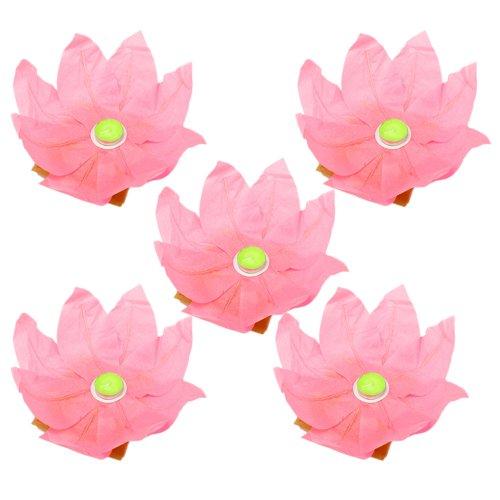 Yr.seasons 20 Pieces Festival,wedding,party Decoration Floating Water Wishing Light Lamp Lotus Flower Paper Lantern (Pink)