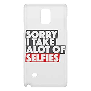 Loud Universe Samsung Galaxy Note 4 3D Wrap Around Sorry I Take Alot of Selfies Print Cover - White