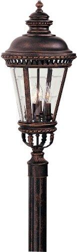 Feiss OL1908GBZ, Castle Cast Aluminum Outdoor Post Lighting, 240watt, Bronze (Includes Mini Desk Fan)