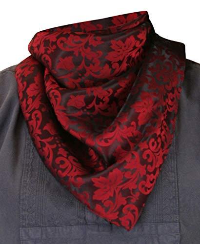 Historical Emporium Men's Silk Blend Jacquard Neckerchief Red