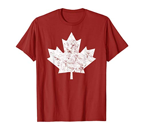 (Canada Maple Leaf Vintage Red Canadian Flag Canada Day T-Shirt)