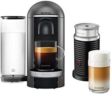Krups Nespresso Vertuo Plus - Cafetera de cápsulas Depósito de agua de 1,1 l. titanio: Amazon.es: Hogar