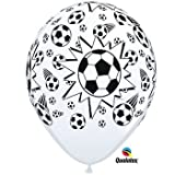 Black & White Football/Soccer Balls Qualatex 11 Inch Latex Balloons x 25