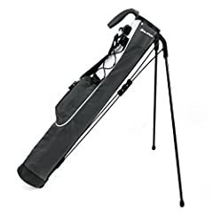 Ideal for a day at the driving range, or a few holes at the Executive course. Two compartment top, ultra lightweight construction (1.95 lbs), one accessory pocket, durable carry handle, detachable shoulder strap, adjustable elastic lanyard an...