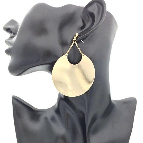 Alloy Geometric Big Dangle Earrings Women Statement Gold Color Drop Earrings Brincos Jewelry Gold