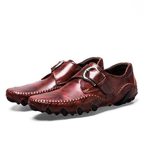 Conducción Hcwtx 24 Moccasin 27 Cuero De Con Barco Amarillo Botón rojo Rojo 0cm Negro 0cm Zapatos gommino Transpirable tamaño rwzRrx