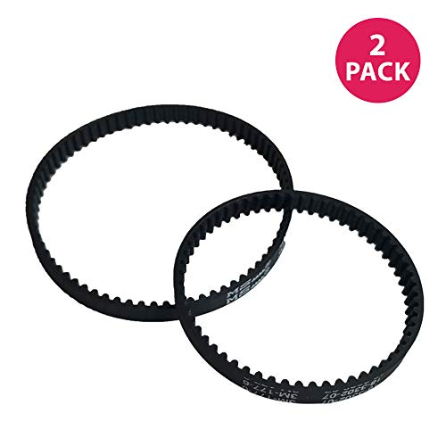 Think Crucial Replacement Belt Parts - Vacuum Belts Compatible with Bissell ProHeat 2X Models 9200 9300 9400 Series - Pair with Part 203-6688 and 203-6804 - Bulk Pack Sizes - (2 Pack)
