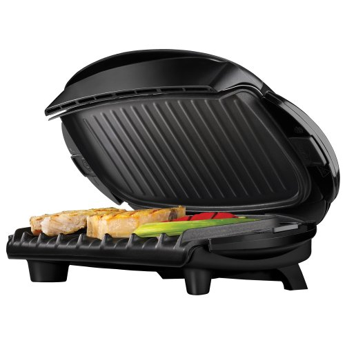 George foreman grp4 next grilleration 5 burger grill with removable plates new ebay - Grill with removable plates ...