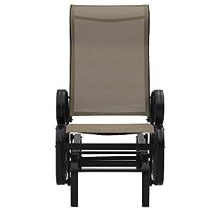 Patio Glider balancín banco Rocker persona silla asiento Sillón Patio jardín para relajarse