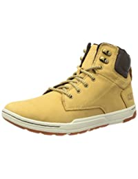 Caterpillar Mens Colfax Mid Leather And Suede Lace-Up Boots