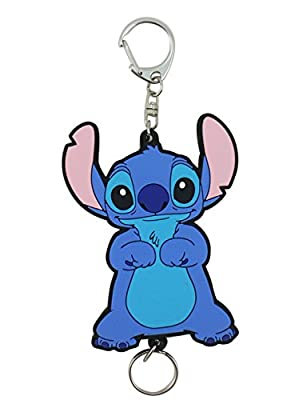 Disney's Stitch Soft Touch Figure ID/Badge Reel Keychain