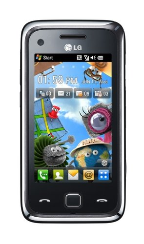 LG GM730 Unlocked GSM Tri-Band Smartphone with 5 MP Camera, Windows Mobile, Touch Scree, Wi-Fi and gps navigation--International Version with Warranty (Black)