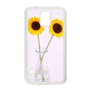 Custom Phone Case with Sunflower Image On The Back Fit To Samsung Galaxy S5