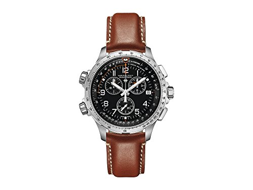 Hamilton Men's Khaki X-Wind GMT - H77912535 Black One Size