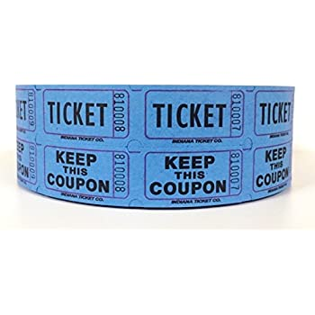 AmazonCom  Blue Double Raffle Ticket Roll   Office Products