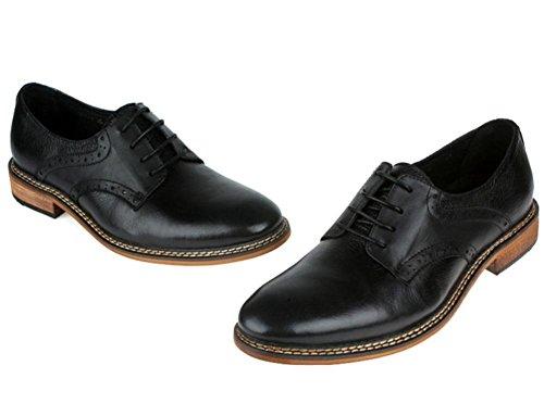 Hombres Boda Zapatos Cuero Formal Negocio Hecho a mano Oxford Encajes Casual para Hombres Negro marrón tamaño 38-44 black