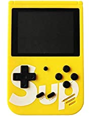 Handheld Game Console for Children, Built-in 400 Games ,Retro Game Player with 2.8 Inch 8-Bit LCD Display. Yellow Color