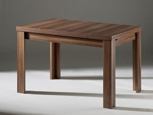 Mesa extensible de comedor nogal 140 x 80 cm: Amazon.es: Hogar