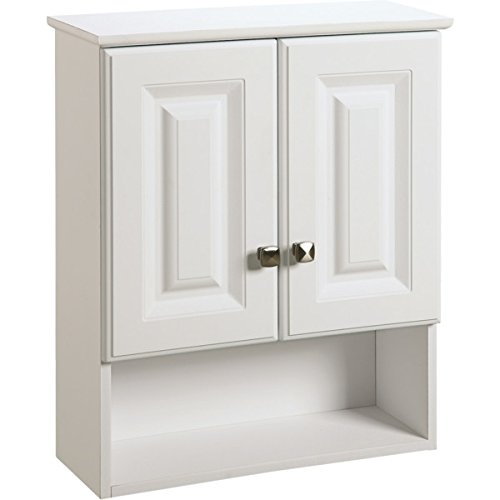 493611 Seasons 21 x 26 x 7'' White Thermofoil Over The John Vanity Wall Cabinet by Seasons