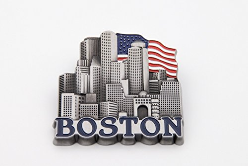 Boston Skyline Flag Magnet ()