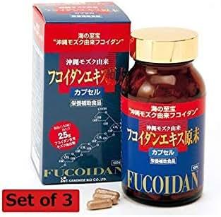 Okinawa Fukoidan Ekisu Genmatsu by Kanehide Bio Okinawa Fucoidan Extract 150 Cap(Set 3)