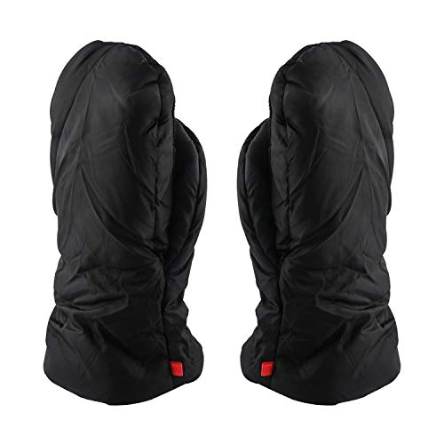 Stroller Hand Muff, Keep Hands Warmer Baby Pram Stroller Carriage Anti-Freeze Gloves Gift for Parents and Caregivers (Black)