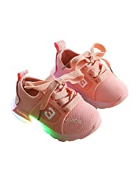 MeterMall Baby Infant Boys Girls Fashion Casual LED Luminous Lighting Comfortable Sports Shoes