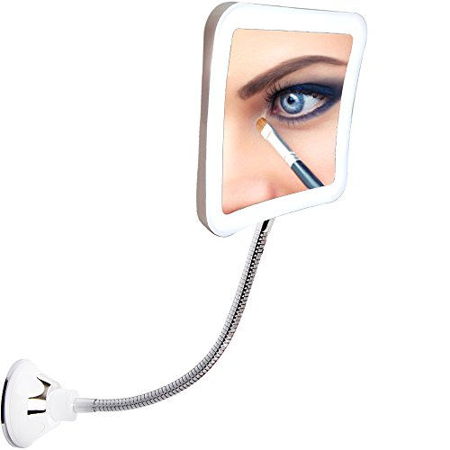 SunplusTrade Led 7X Magnifying Makeup Mirror Lighted Vanity Bathroom Square Mirror with -