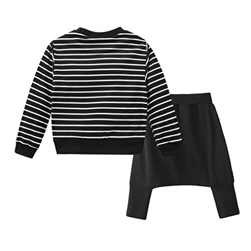 e88feccc08e8c Moonker Toddler Baby Girls Boys Kids Outfit Clothes Stripe T-Shirt  Tops+Long Harlan