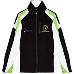 LAMBORGHINI Automobili Squadra Corse Men's Softshell Jacket, Black (Small)