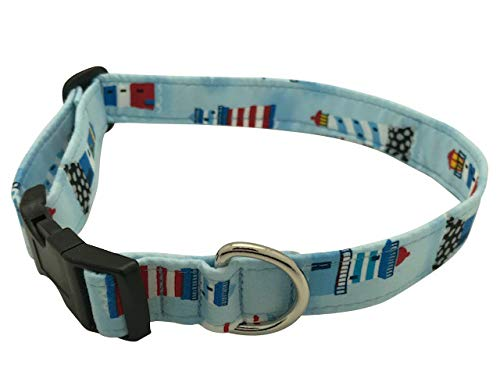 Elmo's Closet Sailor's Light Dog Collar (Large)