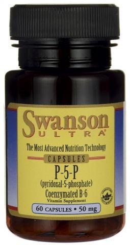 Swanson P-5-P (Pyridoxal-5-Phosphate) Coenzymated Vitaminb-6 50 mg 60 Caps