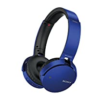 Sony MDRXB650BT/L Extra Bass Over-Ear Bluetooth Headphones, Blue