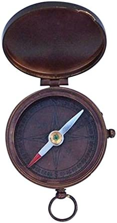 3 Bronze Hampton Nautical  CO-0592-BZ Lewis and Clark Pocket Compass