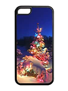 Iphone 5C Case,Christmas Tree With Colorful Light Iphone 5C TPU Silicone Cases,Phone Case Apple Iphone 5C Soft Skin Case