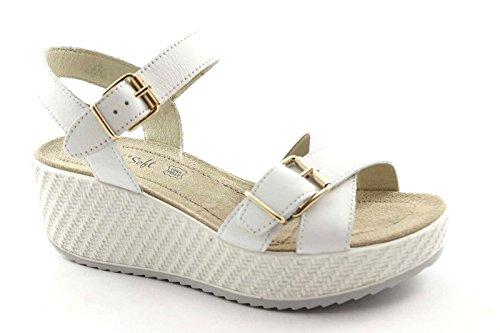 ENVAL 59833 sandali soft plateaux cinturino pelle