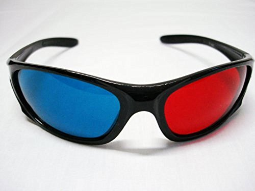 Professional LANYUER Plastic Frame 3D Glasses Anaglyph Glasses for Movie Game Red & Cyan
