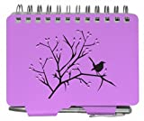 Plum Wren Pattern Password Keeper Organizer Notebook Notepad