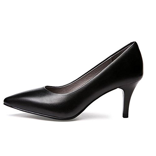 Tac Tacones De Moda Corte Mujer La De Trabajo Negro Zapatos Altos Zapatos Mujer Zapatos Sexy Pagwgq
